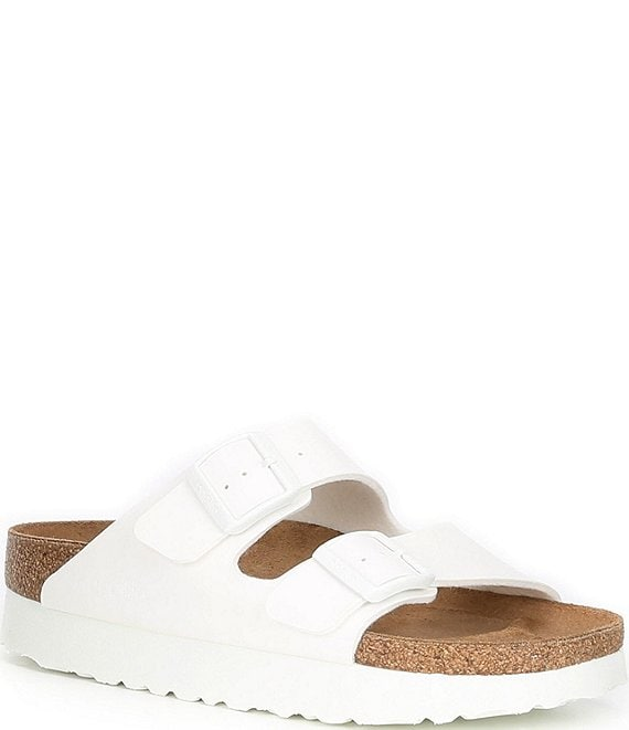 Color:White - Image 1 - Papillio by Birkenstock Women's Arizona Platform Sandals