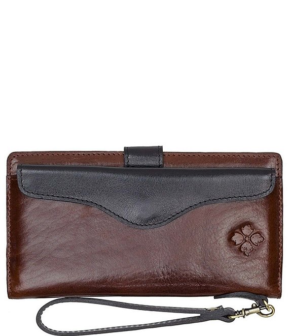 Color:Tan Colorblock - Image 1 - British Vegetable Tanned Colorblock Collection Valentia Wallet