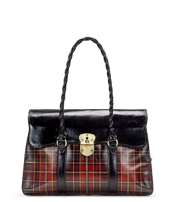 Patricia Nash Gold Foil Tartan Collection Vienna Satchel