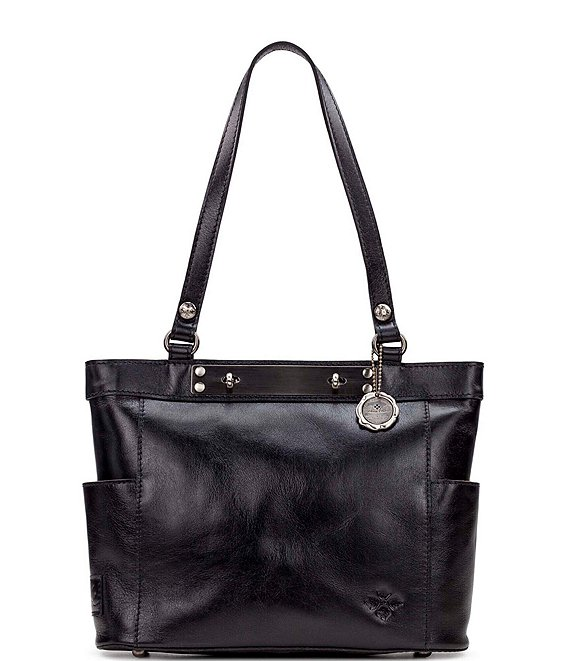 Color:Black - Image 1 - Heritage Collection Rayleigh Leather Tote Bag