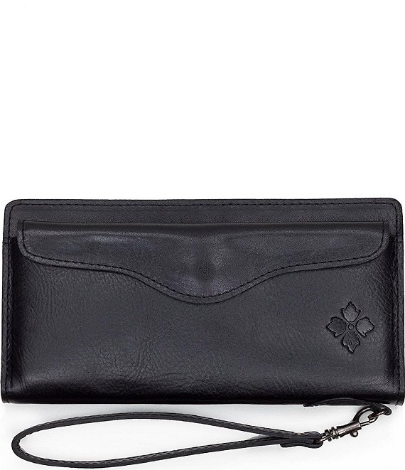 Color:Black - Image 1 - Heritage Collection Valentia Snap Wristlet