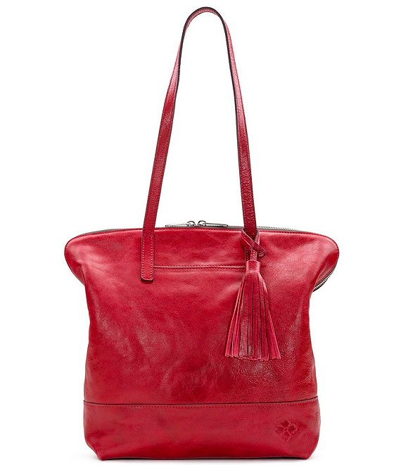 Patricia Nash Leather Brights Collection Rochelle Tassel Satchel Bag