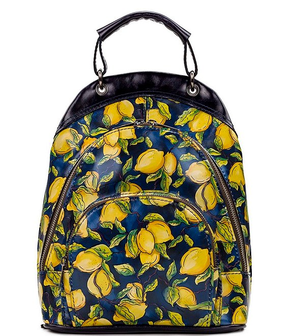 Color:Positano Limon - Image 1 - Positano Limon Print Collection Alencon Backpack