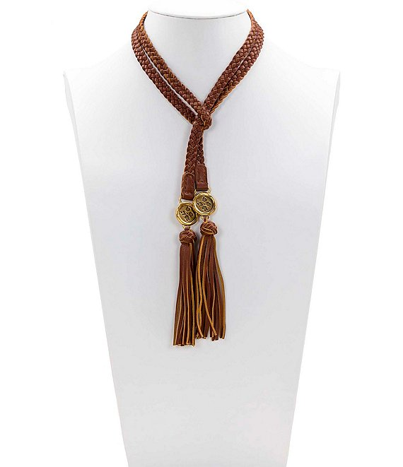 Color:Brown - Image 1 - The Braided Wrap Necklace