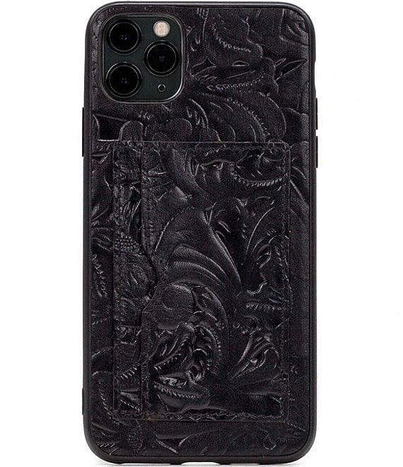Color:Black - Image 1 - Tooled Collection Melzo iPhone Case
