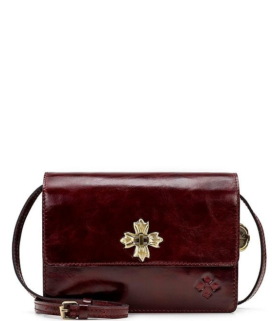 Color:Red - Image 1 - Vintage Patent Collection Consilina Crossbody Bag