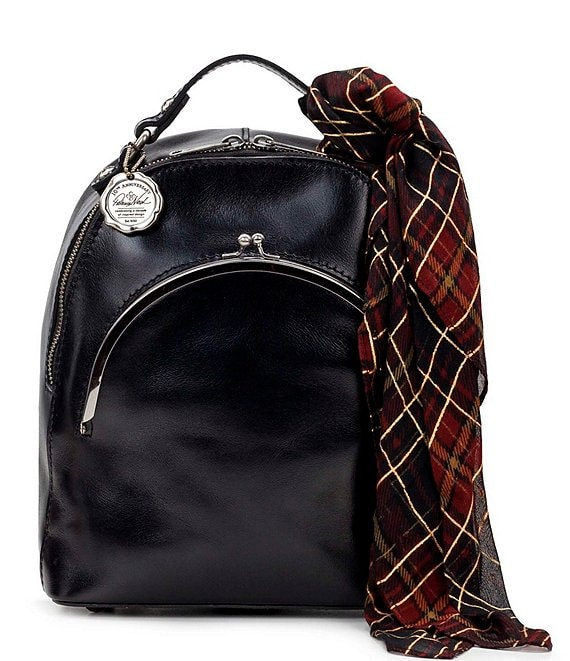 Color:Black - Image 1 - Vintage Patent Collection Vintage Frame Montioni Convertible Backpack