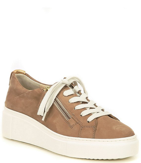 Color:Alpaca Suede - Image 1 - Denim Suede Sneakers