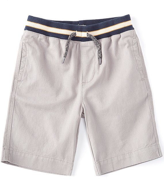 Color:Grey - Image 1 - Little/Big Boys 2T-12 Pull-On Twill Shorts