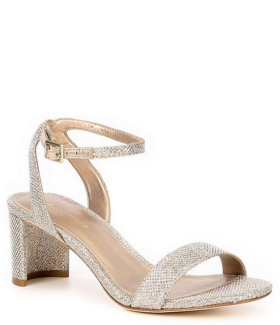 Color:Platinum Gold - Image 1 - Moira 2 Metallic Ankle Strap Dress Sandals
