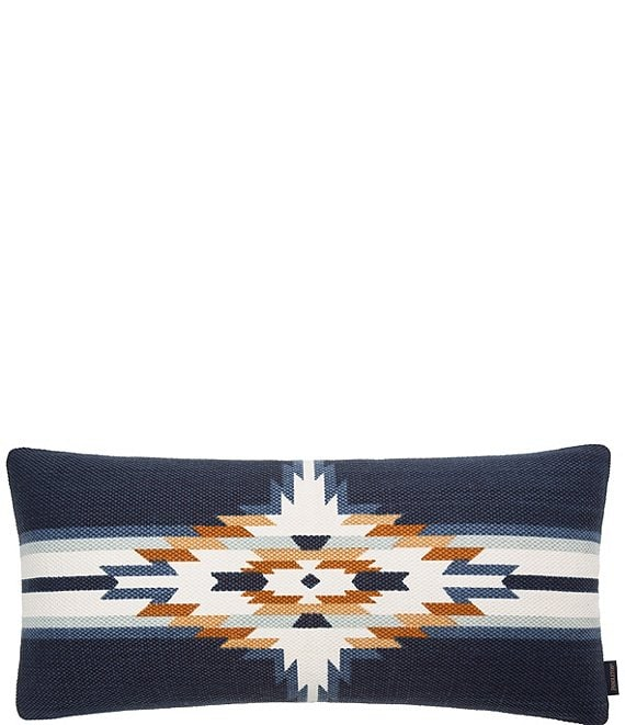 Color:Navy Multi - Image 1 - Chief Star Embroidered Pillow