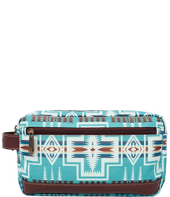 Color:Harding Aqua - Image 1 - Harding Aqua Toiletry Kit