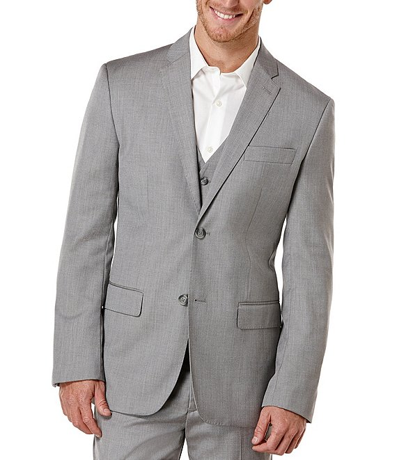 Color:Brushed Nickel - Image 1 - Big & Tall Herringbone Sportcoat