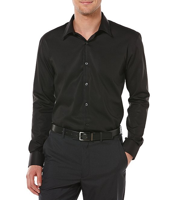 Perry Ellis Big & Tall Non-Iron Long-Sleeve Woven Shirt