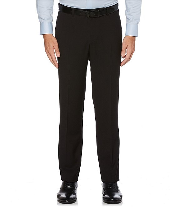 Perry Ellis Big & Tall Slim-Fit Non-Iron Solid Stretch Flat-Front Suit Separates Dress Pants