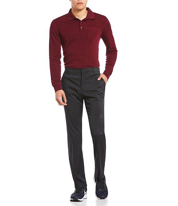 Perry Ellis Premium Performance Flat-Front Classic Fit Flex Waist Stretch Pants