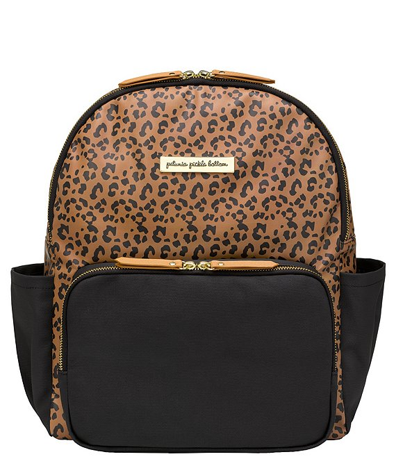Color:Leopard/Black - Image 1 - District Backpack Diaper Bag - Leopard