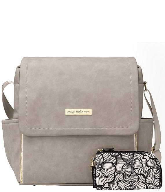 Color:Grey Matte - Image 1 - Matte Leatherette Boxy Backpack Diaper Bag