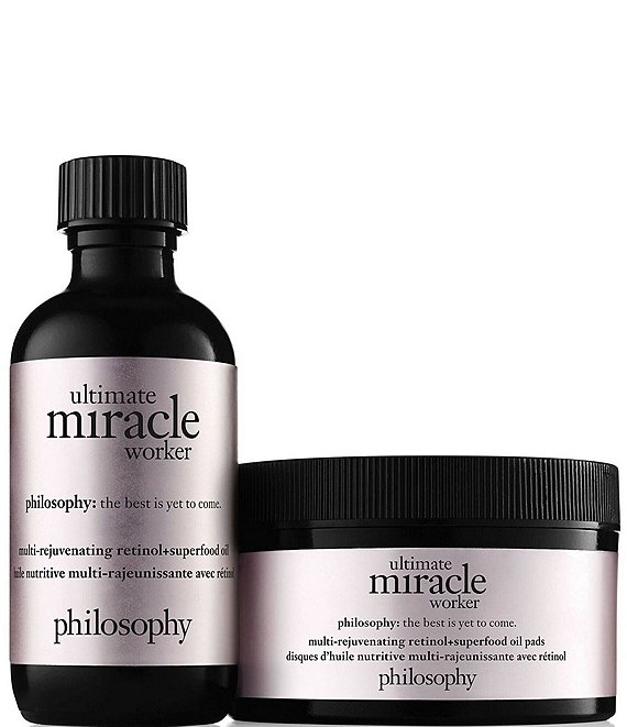 philosophy ultimate miracle worker multi-rejuvenating retinol superfood oil and pads