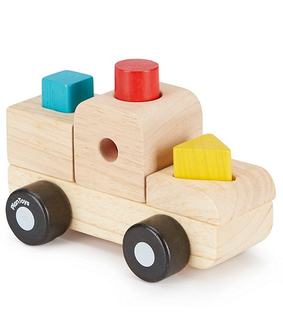 Color:Natural - Image 1 - Wooden Sorting Puzzle Toy Truck