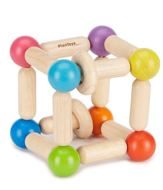 Color:Natural - Image 1 - Wooden Square Clutching Toy