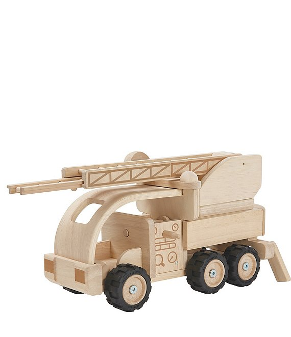 Plan Toys Wooden Toy Fire Truck