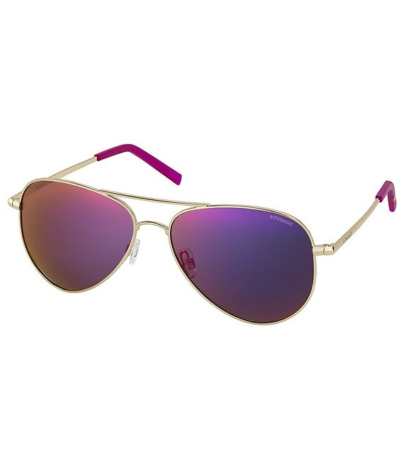 Color:Gold Brown - Image 1 - Aviator Polarized Sunglasses