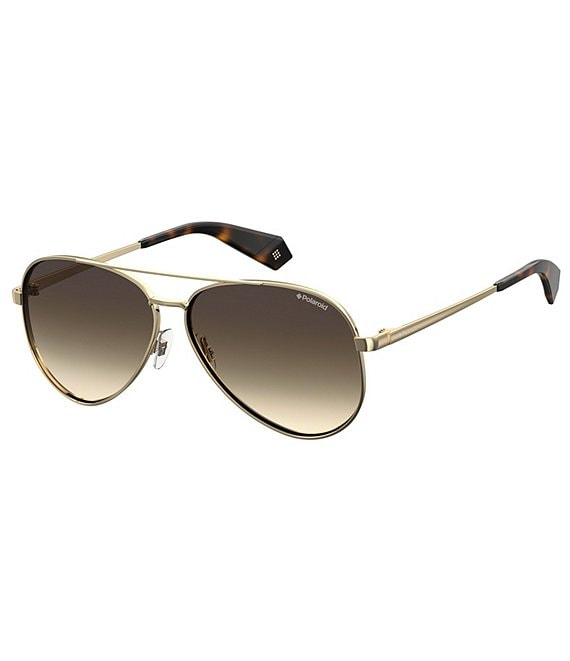 Color:Gold - Image 1 - Aviator Polarized Sunglasses