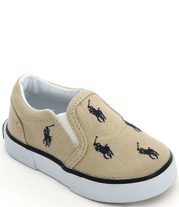 Polo Ralph Lauren Boys' Bal Harbour Canvas Slip-On Sneakers