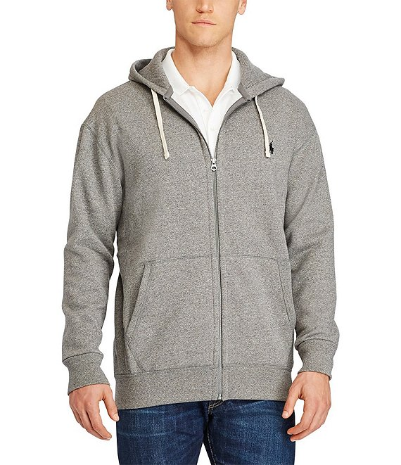 24b086164fa312 Polo Ralph Lauren Big & Tall Classic Fleece Full-Zip Hoodie | Dillard's
