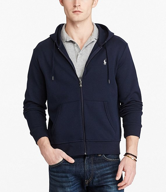 Color:Aviator Navy - Image 1 - Big & Tall Double-Knit Full-Zip Hoodie