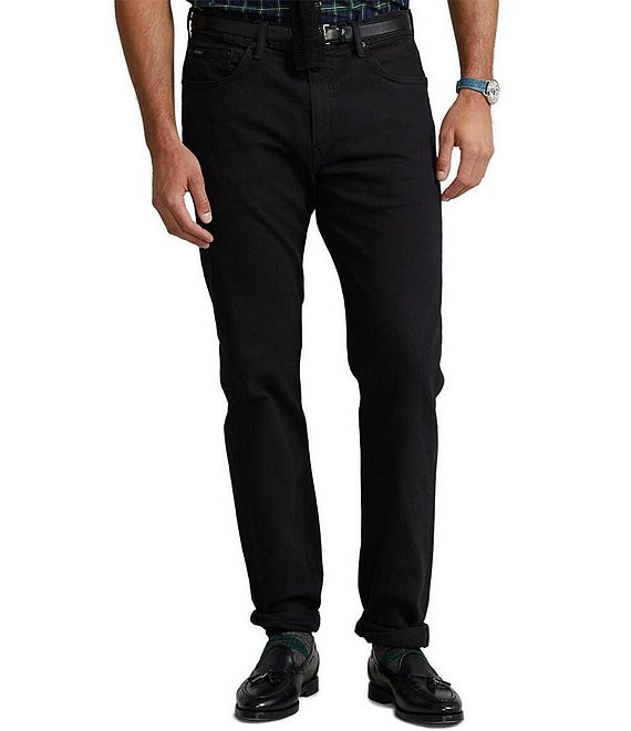 Color:Hudson Black - Image 1 - Big & Tall Hampton Relaxed-Straight Stretch Denim Jeans