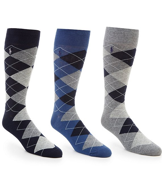 Color:Navy/Grey - Image 1 - Big & Tall Super-Soft Dress Socks 3-Pack