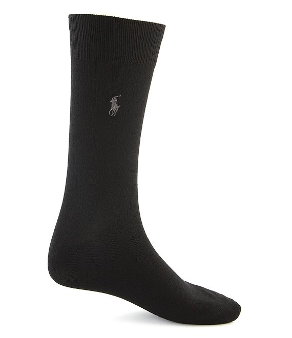 Color:Black - Image 1 - Big & Tall Super Soft Dress Socks 3-Pack
