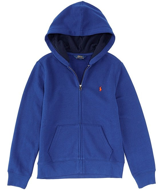 Color:Sistine Blue - Image 1 - Big Boys 8-20 Fleece Full Zip Hoodie