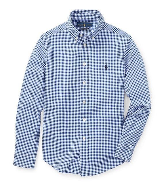 42aad38a Ralph LaurenPolo Ralph Lauren Big Boys 8-20 Long-Sleeve Checked Poplin  Sportshirt