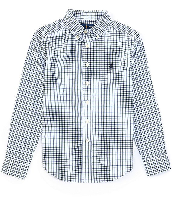 Polo Ralph Lauren Big Boys 8-20 Long-Sleeve Club Check Poplin Shirt