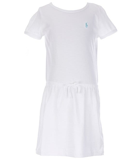 Color:White - Image 1 - Big Girls 7-16 Dropwaist T-Shirt Dress