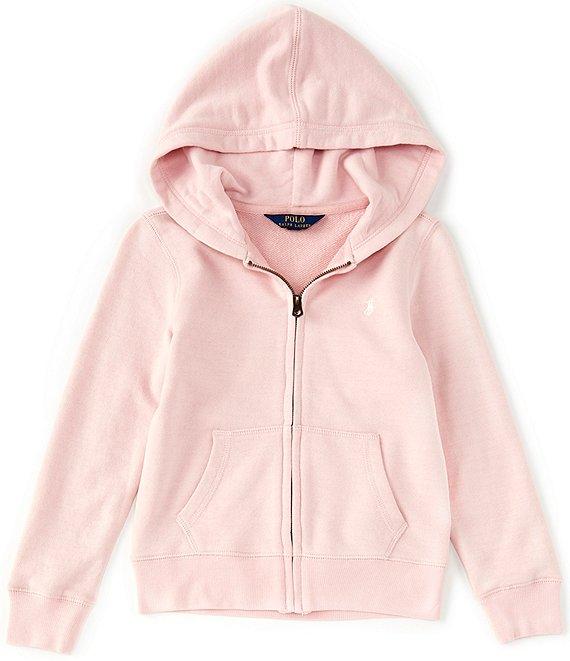 Ralph Lauren Jacket Toddler Girl Navy Blue Zip Sweatshirt Coat Hoodie new