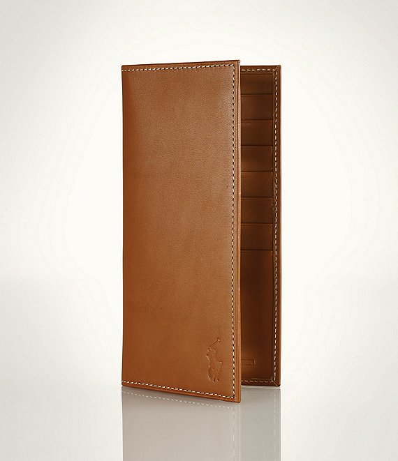 Polo Ralph Lauren Burnished Leather Narrow Wallet