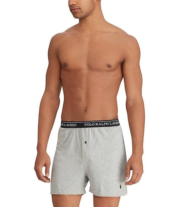 8b3a87df6fae Polo Ralph Lauren Classic Fit Assorted Knit Boxers 3-Pack | Dillard's