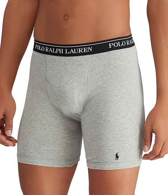 hottest sale latest sale top-rated quality Polo Ralph Lauren Classic Fit Long Leg Assorted Boxer Briefs 3-Pack