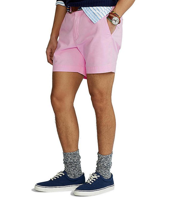 Color:Carmel Pink - Image 1 - Classic-Fit Stretch Chino 6#double; Inseam Shorts