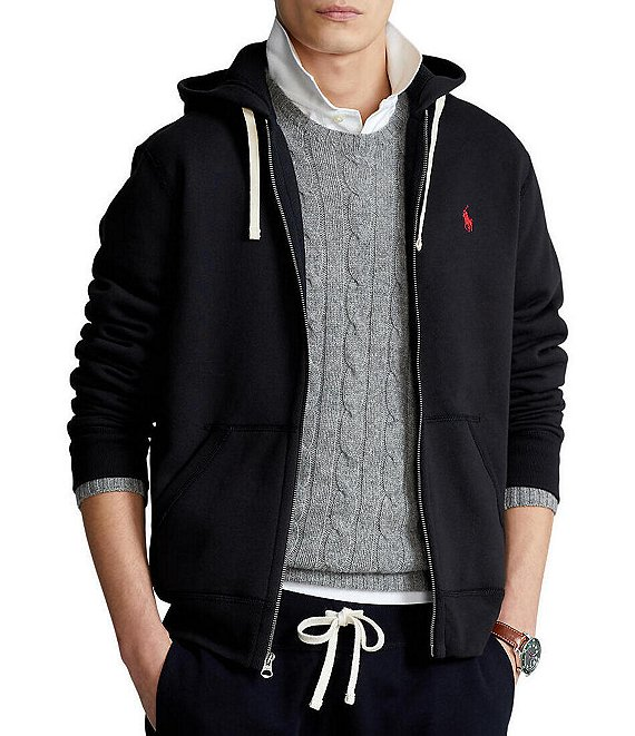 bc50a23cb94 Polo Ralph Lauren Classic Solid Fleece Hoodie Jacket