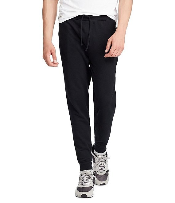 Color:Polo Black - Image 1 - Double-Knit Jogger Pants