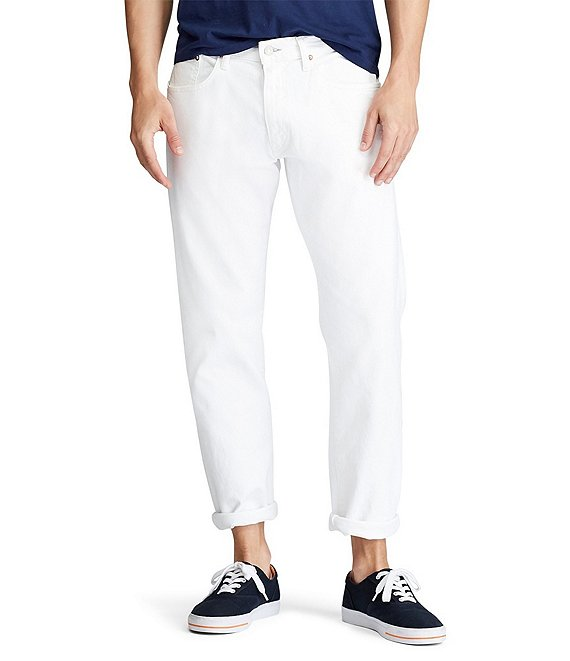 Color:Hudson White - Image 1 - Hampton Relaxed Straight-Fit Stretch Jeans