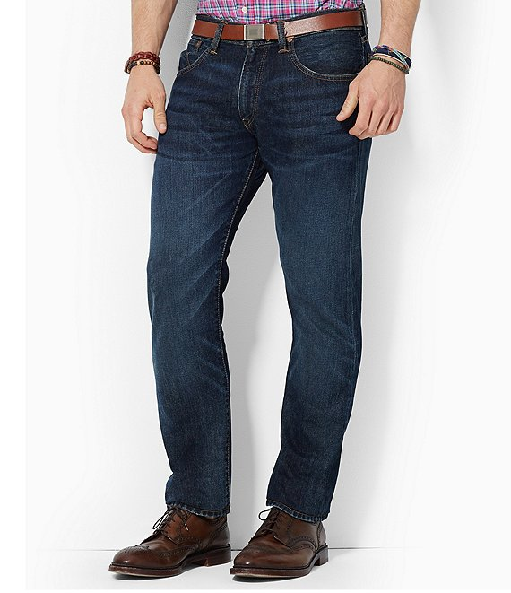Color:Lightweight Morris - Image 1 - Hampton Relaxed Straight-Fit Lightweight Morris Wash Jeans