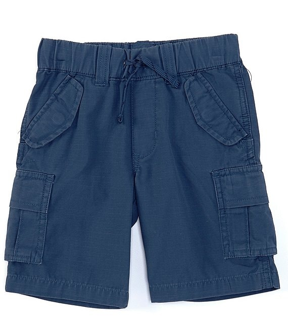 Color:Federal Blue - Image 1 - Little Boys 2T-7 Ripstop Cargo Shorts