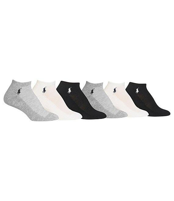 Cut Top Pack Socks Lauren 6 Polo Low Ralph Mesh Sport rxodBCeW
