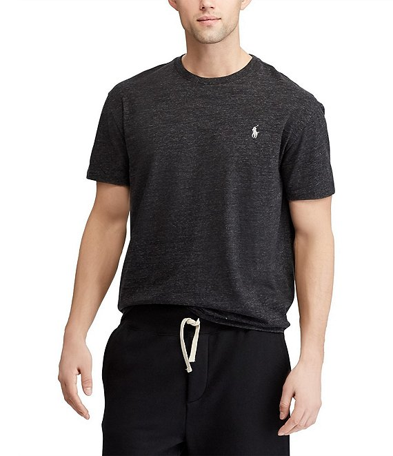 Color:Black Marl Heather - Image 1 - Standard-Fit Short-Sleeve Crew Neck Tee